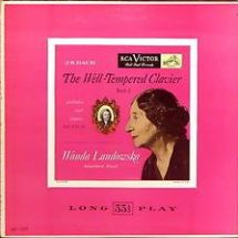 Bach Well-Tempered Clavier Landowska