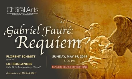 Washington Choral Arts Schmitt Faure Tucker May 2019