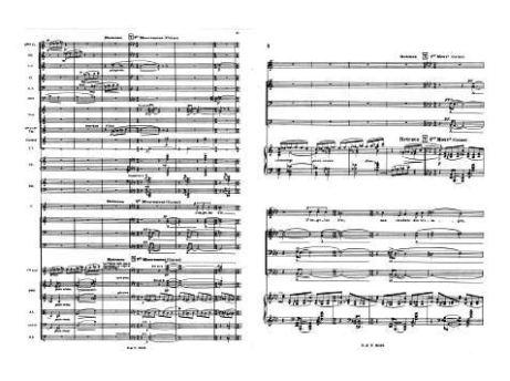 Florent Schmitt Chant de guerre orchestral + piano scores