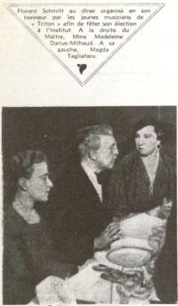Madeleine Milhaud Florent Schmitt Magda Tagliaferro