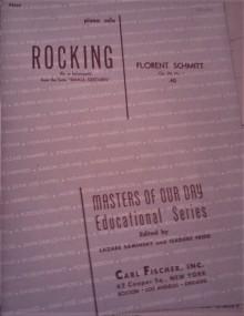 Florent Schmitt Small Gestures Rocking score cover