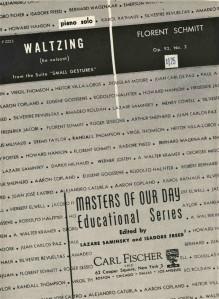 Florent Schmitt Small Gestures Waltzing Score cover
