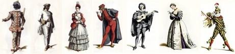 Commedia del'Arte characters