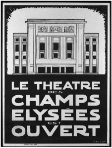 Theatre des Champs-Elysees poster 1913 opening