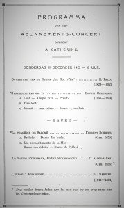 The 1913 Concertgebouw program.