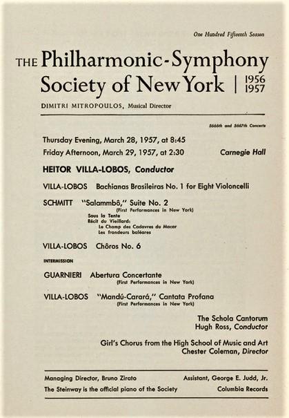 New York Philharmonic 1957 Schmitt Villa-Lobos
