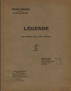 Florent Schmitt Legende score Durand