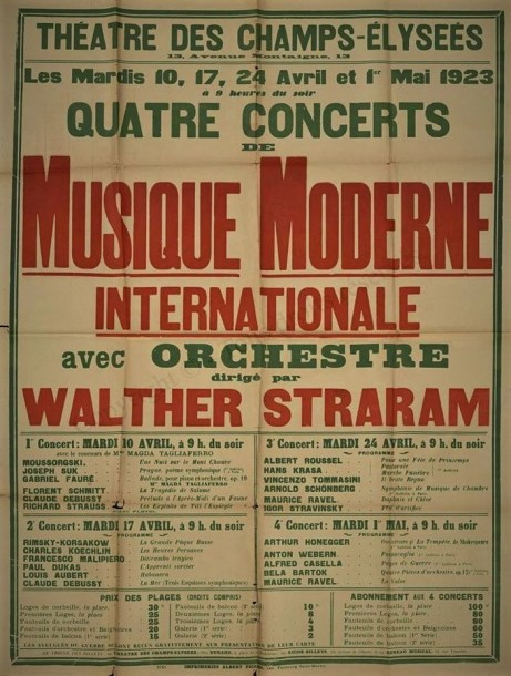 Musique Moderne International poster 1923 Walther Straram