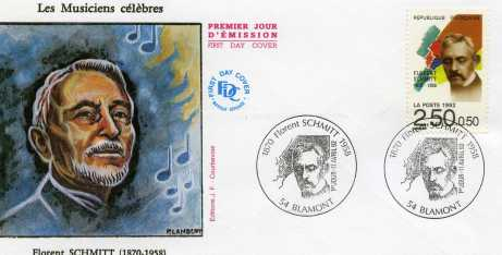 Florent Schmitt First Day Cover Issue 1992 France