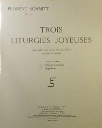 Florent Schmitt Trois liturgies joyeuses score cover