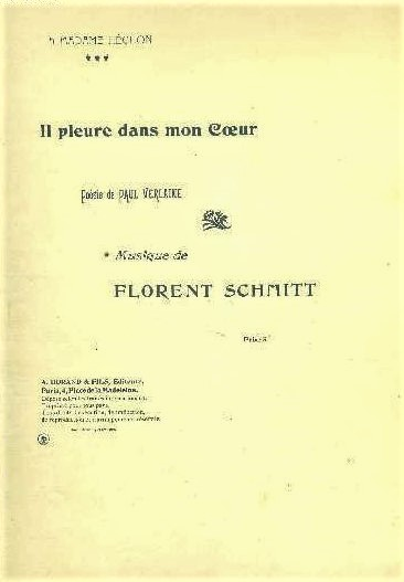 Florent Schmitt Paul Verlaine