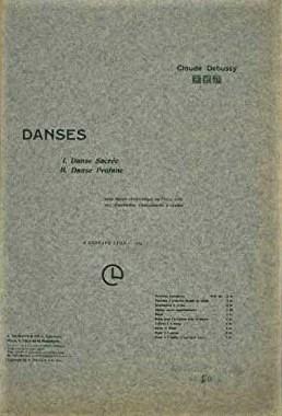 Debussy Danses sacree et profane score