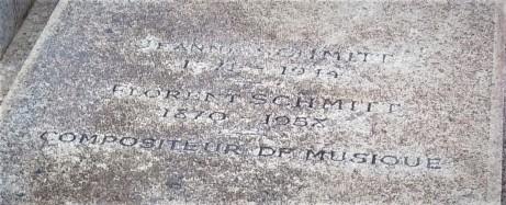 Florent Schmitt Gravestone Detail 2020