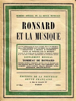 La Revue musical Tombeau de Ronsard May 1924
