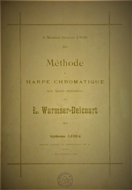 Method de Harpe Chromatique Lucile Wurmser-Delcout