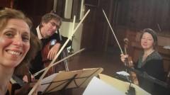 Prisma String Trio recording session Florent Schmitt July 2020