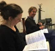 Elisabeth Smalt Michiel Weidner Prisma String Trio recording session July 2020