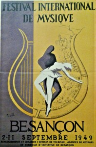Besancon Music Festival Program 1949