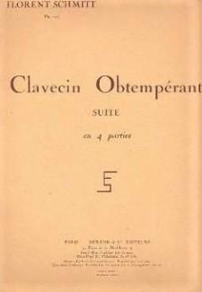 Florent Schmitt Clavecin Obtemperant score cover