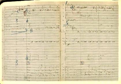 Florent Schmitt Ronde burlesque manuscript pages