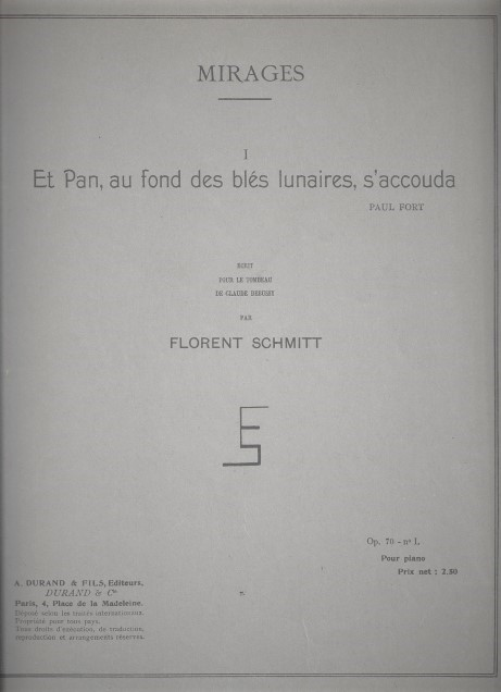 Florent Schmitt Et Pan score cover