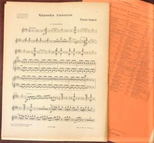Florent Schmitt Rapsodie viennoise score