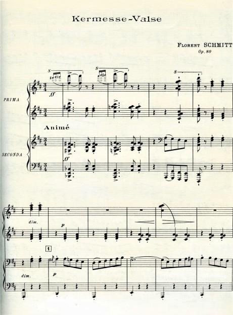 Florent Schmitt Kermesse Valse score first page