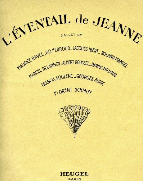 L'Eventail de Jeanne score cover